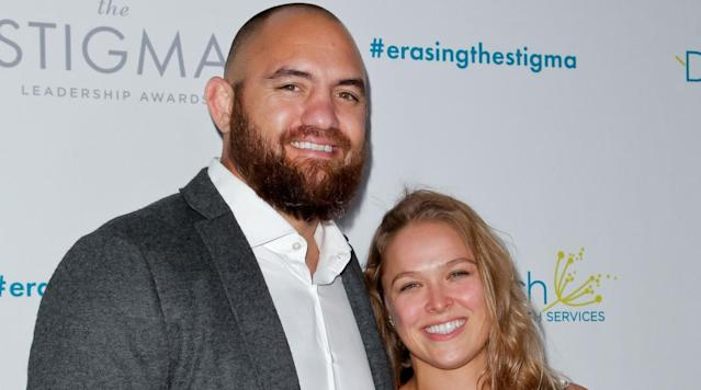 Ronda Rousey is tying the knot, TMZ reports: she and UFC fighter boyfriend Travis Browne are engaged.