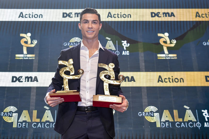 Cristiano Ronaldo was in Milan accepting the Serie A player of the year award while the Ballon d'Or ceremony was taking place in Paris. (Photo by Daniele Badolato - Juventus FC/Juventus FC via Getty Images)