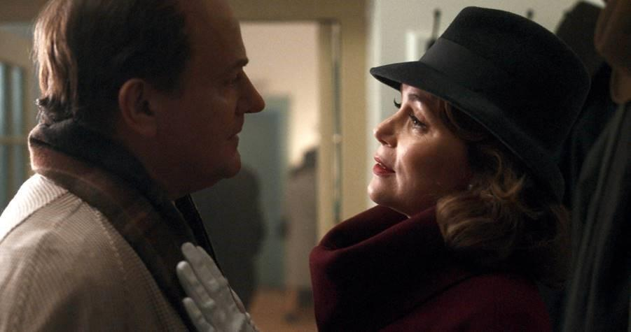 Hugh Bonneville and Keeley Hawes as Roald Dahl and Patricia Neal in To Olivia (Sky Cinema)