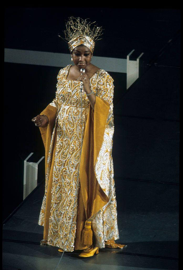 """<p>Aretha Franklin performs Barbara Streisand's """"Funny Girl"""" for the Academy, the year Streisand received the Oscar for her title role. </p>"""