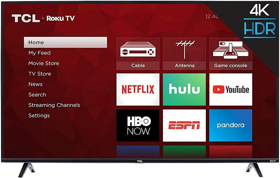 "This TV can work with Amazon's Alexa or Google Assistant with voice control to change the channel. It has an interface so you can choose from Netflix or Hulu. It's 50 inches wide so you'll see things clearly. <a href=""https://amzn.to/31afU1i"" target=""_blank"" rel=""noopener noreferrer"">Originally $480, get it now for $280 at Amazon</a>."