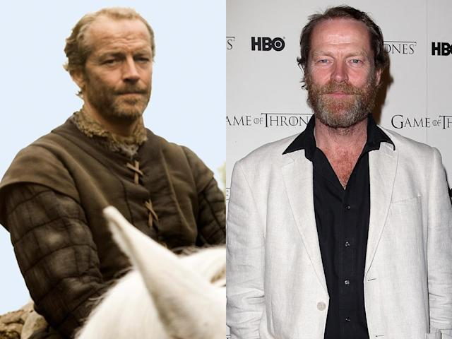 "<b>Iain Glen (Ser Jorah Mormont)</b><br><br>Glen also co-starred in ""Downton Abbey,"" as the hateful newspaper tycoon Sir Richard Carlisle. And unlike the rest of the ""Thrones"" cast, Glen actually looks older out of character than as Daenerys' loyal companion, Ser Jorah Mormont. We blame his multi-colored beard."