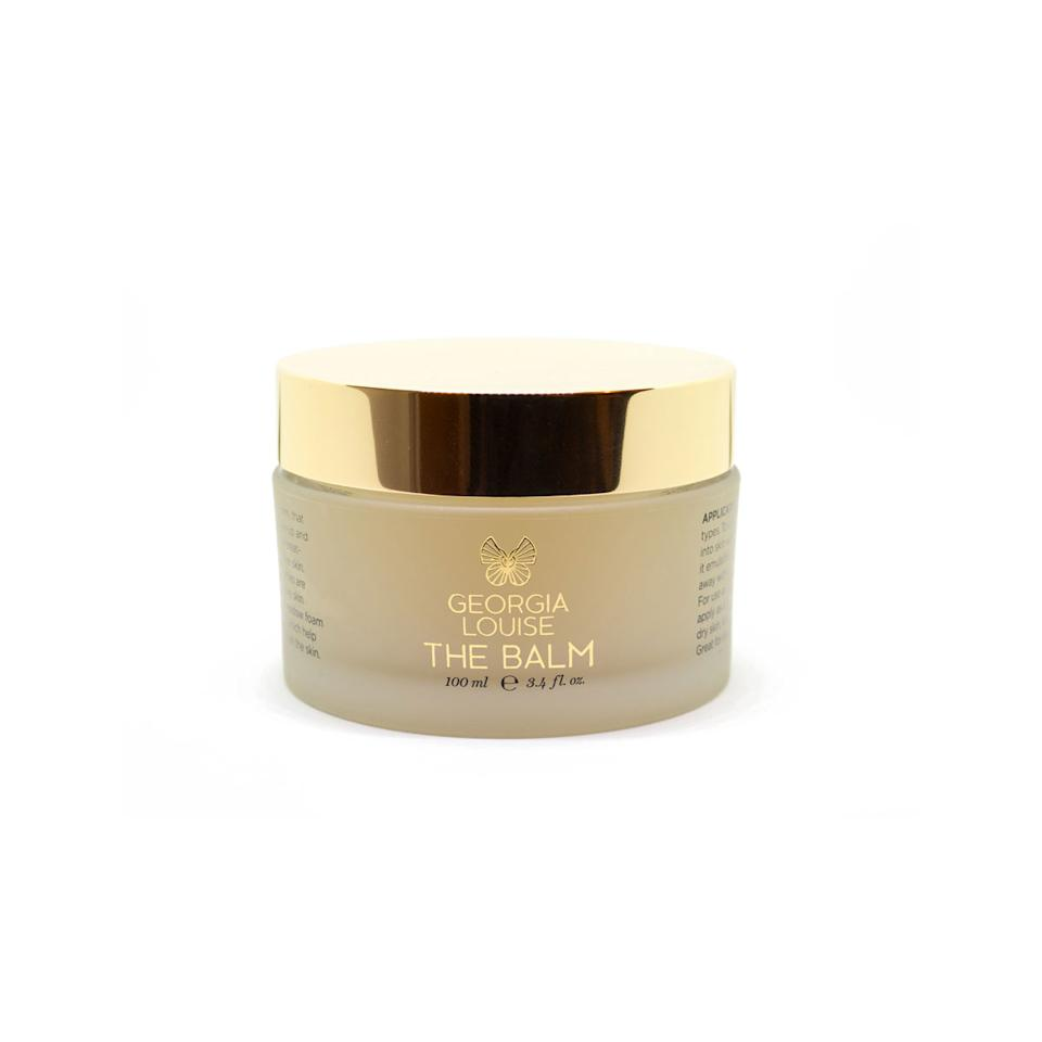 "<p>Louise starts things off by triple cleansing the Angels' skin with the balm from her namesake line of products. This softening balm melts away all traces of makeup, dirt, and oil from the skin, plus has a mix of plant oils that locks in hydration. </p><p>Buy it <a rel=""nofollow"" href=""https://www.georgialouise.com/shop/cleanse-heal-duo-balm"">here</a> for $84.</p>"