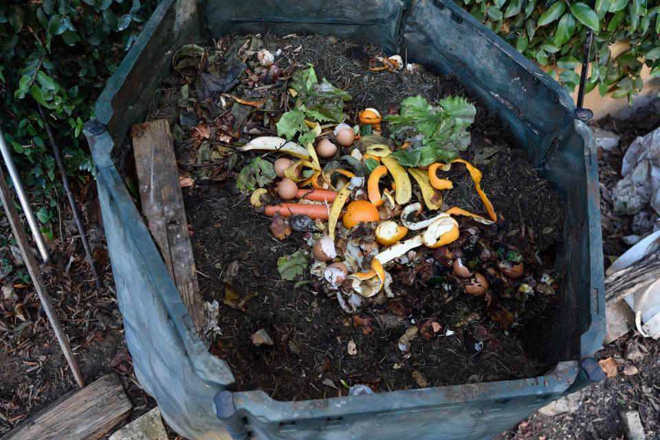 Composting is a great way of reducing food waste (Getty)