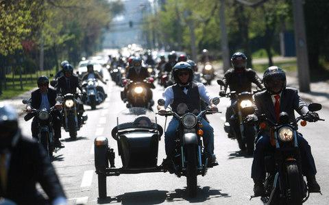 The ride is organised by the Movember foundation - Credit: REUTERS