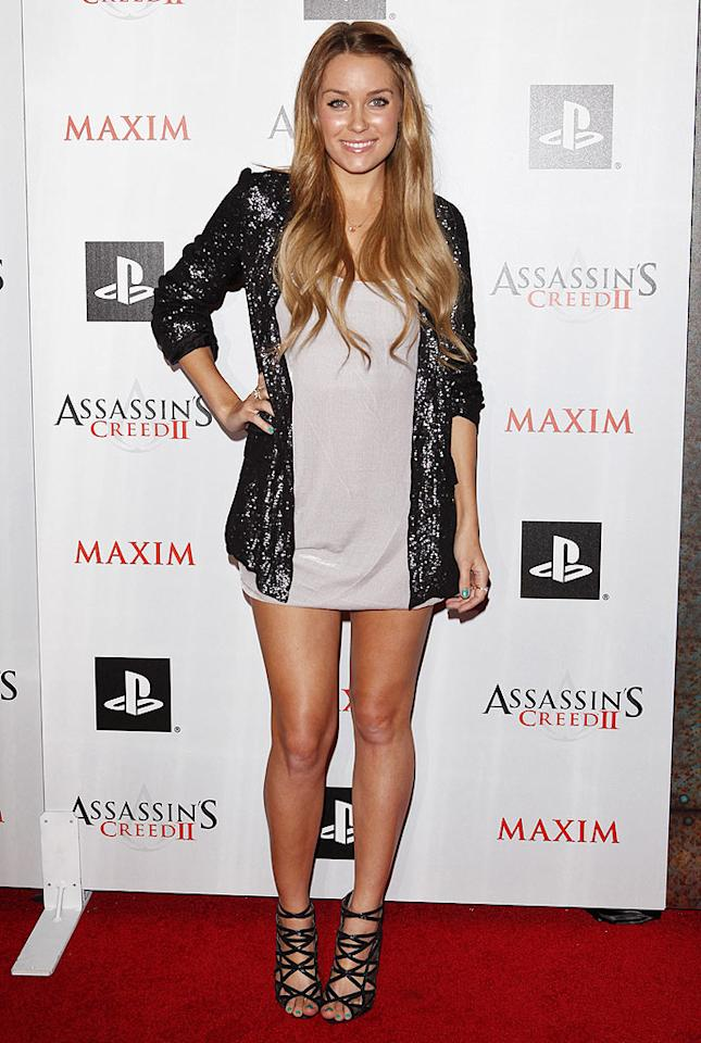 """Former """"Hills"""" hottie, Lauren Conrad, shines from head to toe thanks to her sequined blazer and lots of moisturizer! Jean Baptiste Lacroix/<a href=""""http://www.wireimage.com"""" target=""""new"""">WireImage.com</a> - November 11, 2009"""