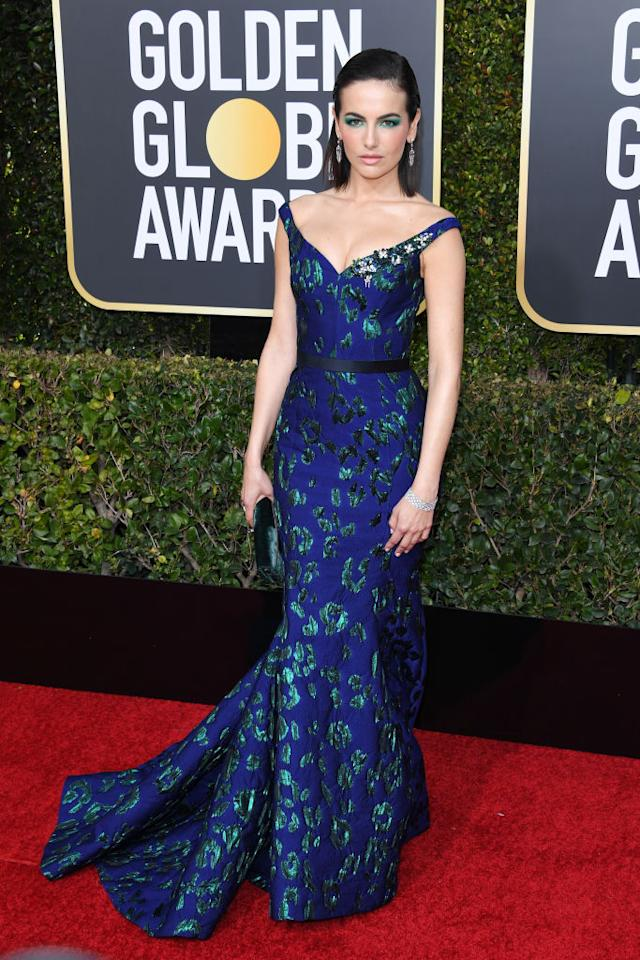 Camilla Belle attends the 76th Annual Golden Globe Awards at the Beverly Hilton Hotel in Beverly Hills, Calif., on Jan. 6, 2019. (Photo: Getty Images)