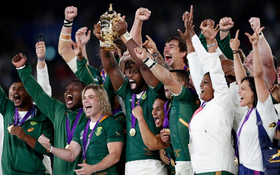 South Africa swept aside England 32-12 in the 2019 World Cup final - REUTERS
