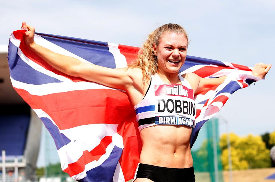 Britain's Beth Dobbin once collected Olympic crockery - now she's looking for a medal (Picture: Reuters)