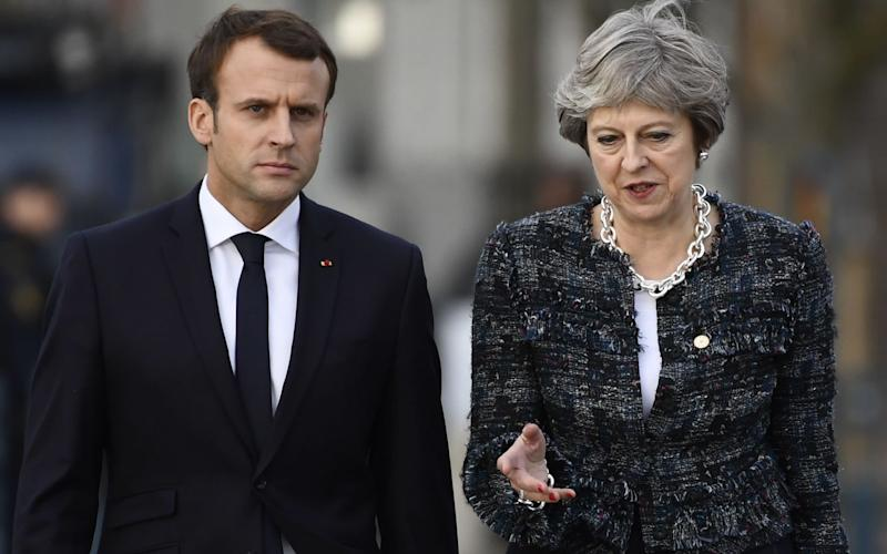Theresa May with French president Emmanuel MacronTheresa May with French president Emmanuel Macron - AFP