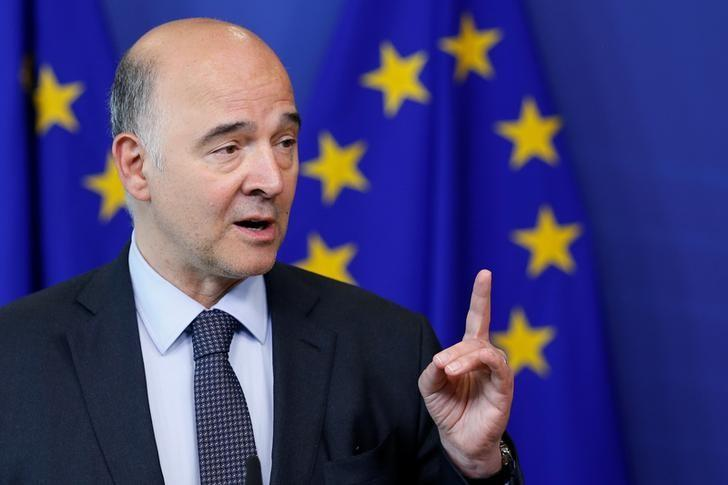 EU Commissioner Moscovici holds a news conference in Brussels