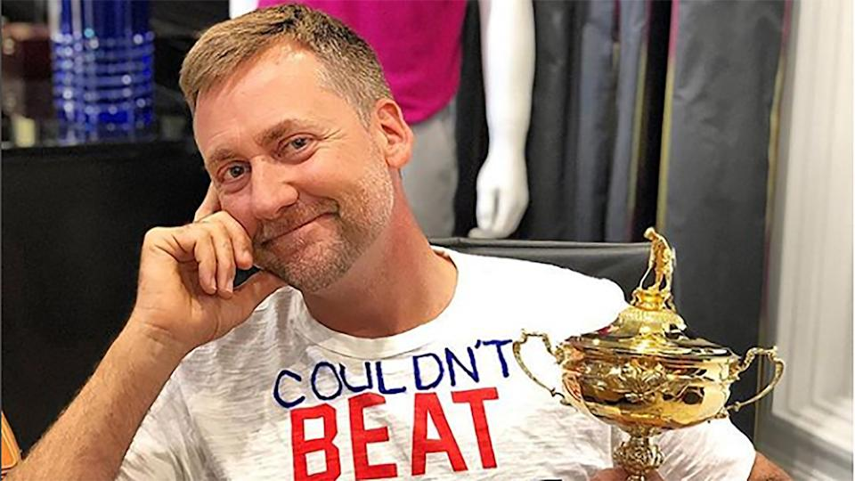 Ian Poulter with the Ryder Cup
