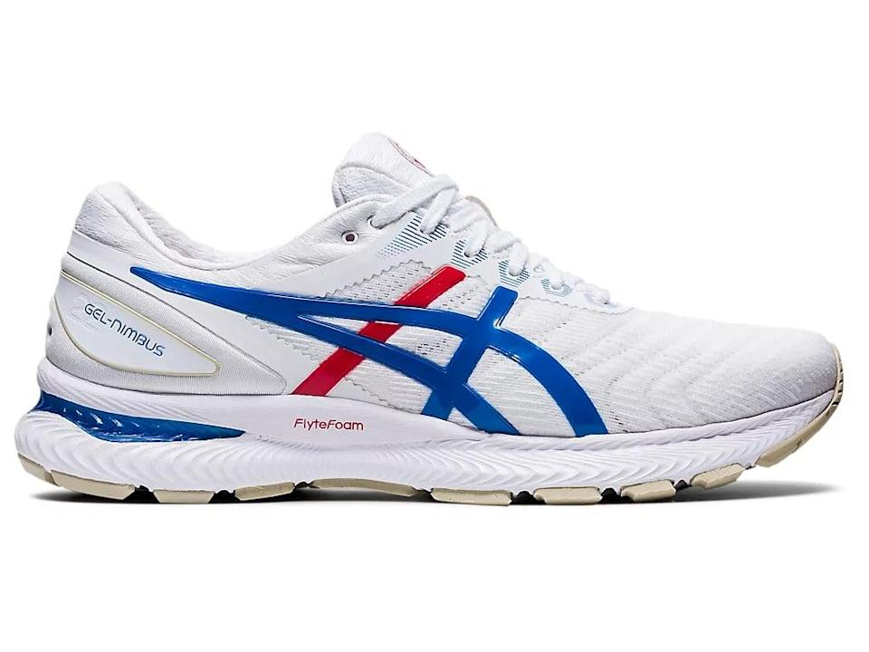 <p>We love the pops of red and blue on these <span>ASICS Men's GEL-Nimbus 22 Retro Tokyo Sneakers</span> ($100, originally $150).</p>