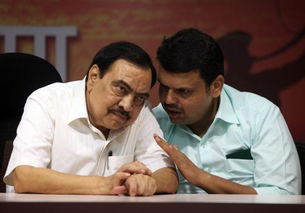 Eknath Khadse and Devendra Fadnavis in a file photo
