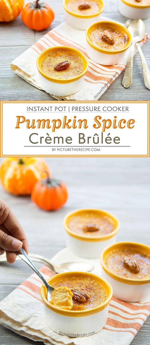 """<p>Who knew it would be <em>so </em>easy to make such an irresistible crème brûlée using just an Instant Pot? </p><p><em><a href=""""https://picturetherecipe.com/recipes/instant-pot-pumpkin-spice-creme-brulee/"""" rel=""""nofollow noopener"""" target=""""_blank"""" data-ylk=""""slk:Get the recipe from Picture The Recipe »"""" class=""""link rapid-noclick-resp"""">Get the recipe from Picture The Recipe »</a></em> </p><p><strong>RELASTED: </strong><a href=""""https://www.goodhousekeeping.com/appliances/multi-cooker-reviews/a25653352/best-instant-pot/"""" rel=""""nofollow noopener"""" target=""""_blank"""" data-ylk=""""slk:The Best Instant Pot Models of 2020, According to Kitchen Appliance Experts"""" class=""""link rapid-noclick-resp"""">The Best Instant Pot Models of 2020, According to Kitchen Appliance Experts</a></p>"""