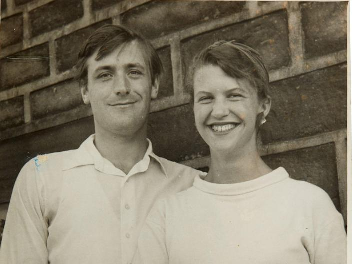 Undated photo of poets Ted Hughes and Sylvia Plath (PA)