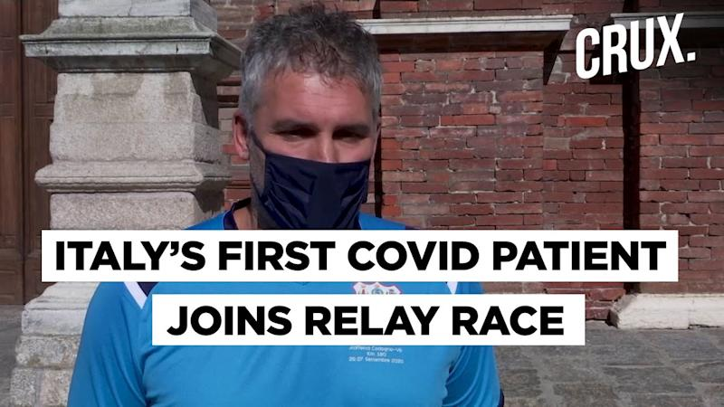 Italy's First Coronavirus Patient Participates In Relay Race As A Sign Of Hope