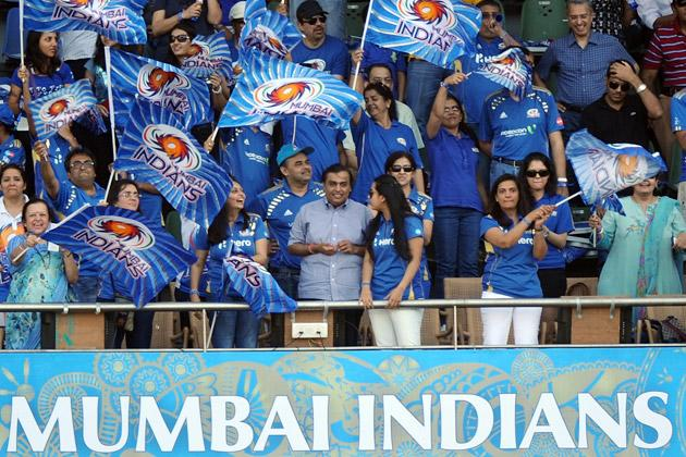 Indian industrialist and owner of Mumbai Indians cricket team Mukesh Ambani watches watches the IPL Twenty20 cricket match between Pune Warriors India and Mumbai Indians at The Wankhede Stadium in Mumbai on April 6, 2012.AFP PHOTO/Indranil MUKHERJEE (Photo credit should read INDRANIL MUKHERJEE/AFP/Getty Images)