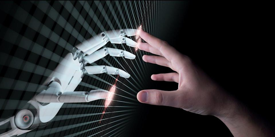 """<span class=""""attribution""""><a class=""""link rapid-noclick-resp"""" href=""""https://www.shutterstock.com/es/image-illustration/hands-robot-human-touching-virtual-reality-651441421"""" rel=""""nofollow noopener"""" target=""""_blank"""" data-ylk=""""slk:Shutterstock / maxuser"""">Shutterstock / maxuser</a></span>"""