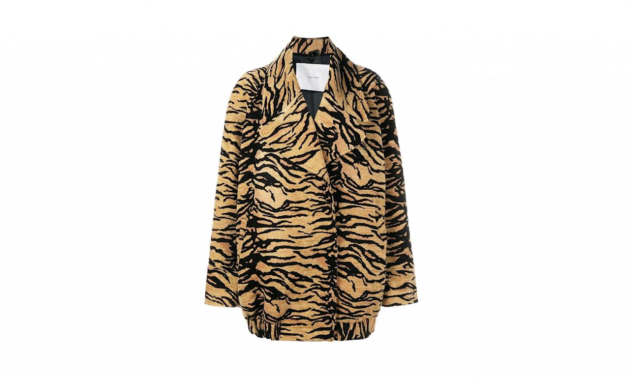 "<p>Adam Lippes Tiger Print Jacket, fro $2877.34 to $1438.67, <a rel=""nofollow"" href=""https://www.brownsfashion.com/shopping/tiger-print-jacket-11509619"">Brownsfashion.com</a> </p>"
