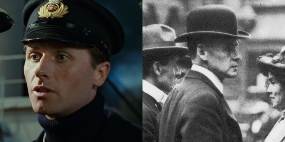 <p>Played by Jonathan Phillips, Charles Lightoller served as second officer on the <em>Titanic</em>. He survived the sinking and continued to work for White Star Line, and later served in World War I. During World War II, he used his private yacht to assist with the evacuation of Dunkirk; Mark Rylance's character arc in the 2017 movie <em>Dunkirk</em> closely mirrors Lightoller's story. </p>