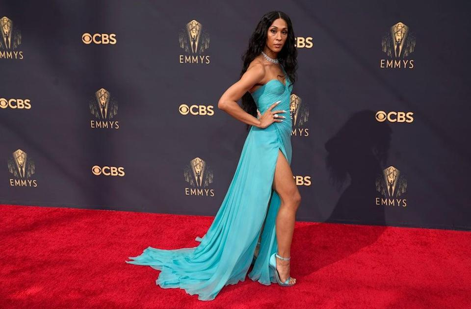 Mj Rodriguez was among the stars at the Emmys (AP Photo/Chris Pizzello) (AP)