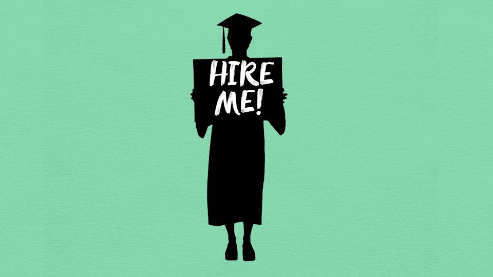 College students who graduated in May are struggling to find jobs, in part because they're competing with both 2020 grads who deferred their job searches during the pandemic and the millions of Americans laid off in the health crisis, experts say.
