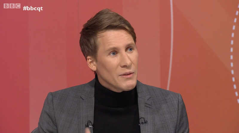 <strong>Filmmaker Dustin Lance Black said the government 'is supposed to be looking out for people'</strong> (BBC)