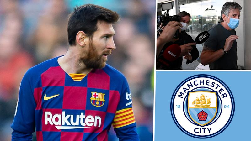 Lionel Messi Barcelone Man City Jorge Messi