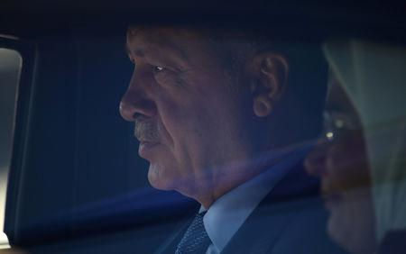 FILE PHOTO: Turkish President Erdogan arrives in Berlin