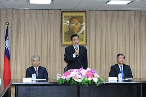 Ma Ying-jeou (centre) was president of Taiwan from 2008 to 2016. Photo: Department of Information Services, Executive Yuan