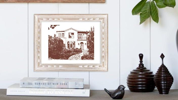 Turn a photograph of someone's home into a work of art.