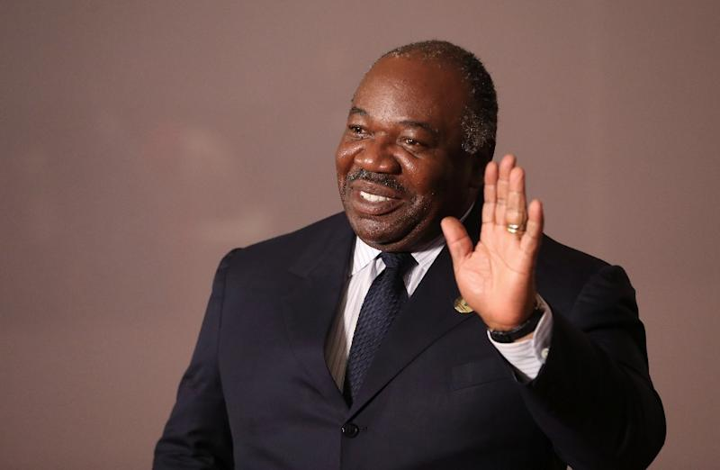 File picture of Ali Bongo, who fell ill with a stroke last October while visiting Saudi Arabia