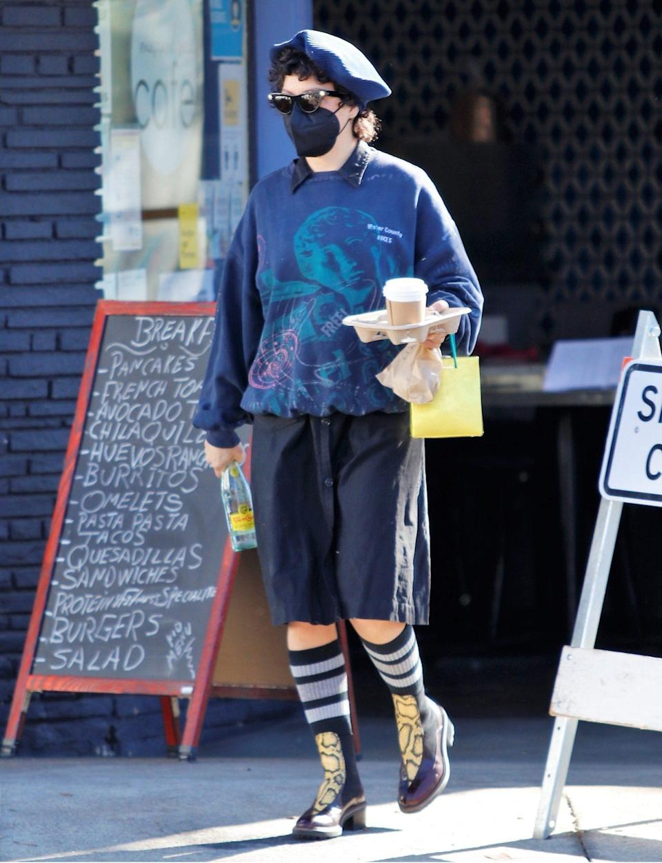 <p>Alia Shawkat covers up for a coffee run on Tuesday in Los Feliz, California.</p>