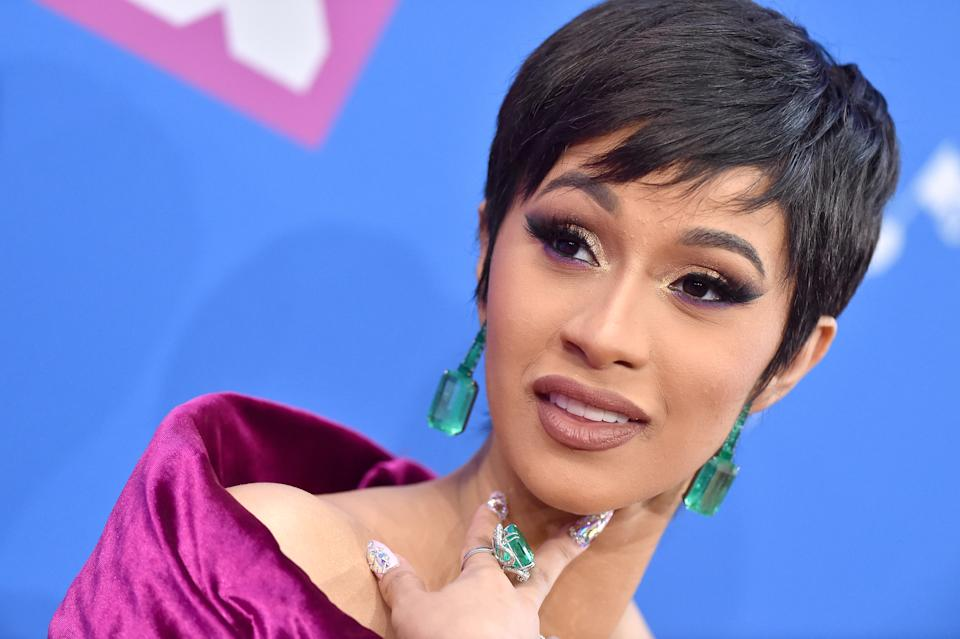 NEW YORK, NY - AUGUST 20:  Cardi B attends the 2018 MTV Video Music Awards at Radio City Music Hall on August 20, 2018 in New York City.  (Photo by Axelle/Bauer-Griffin/FilmMagic)