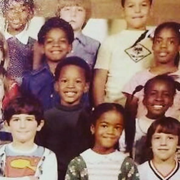 """<p>Jamie Foxx, in the days when he went by Eric Bishop growing up in Terrell, Texas: """"TBT….when u cheesin bout yo new clothes for picture day!…haha ….rockin that mock neck niccah. Haha ERIC BISHOP… #comealongway"""" -<a href=""""https://www.instagram.com/p/BHSIdibANaQ/?taken-by=iamjamiefoxx"""" rel=""""nofollow noopener"""" target=""""_blank"""" data-ylk=""""slk:@iamjamiefoxx"""" class=""""link rapid-noclick-resp"""">@iamjamiefoxx</a> (Instagram) </p>"""