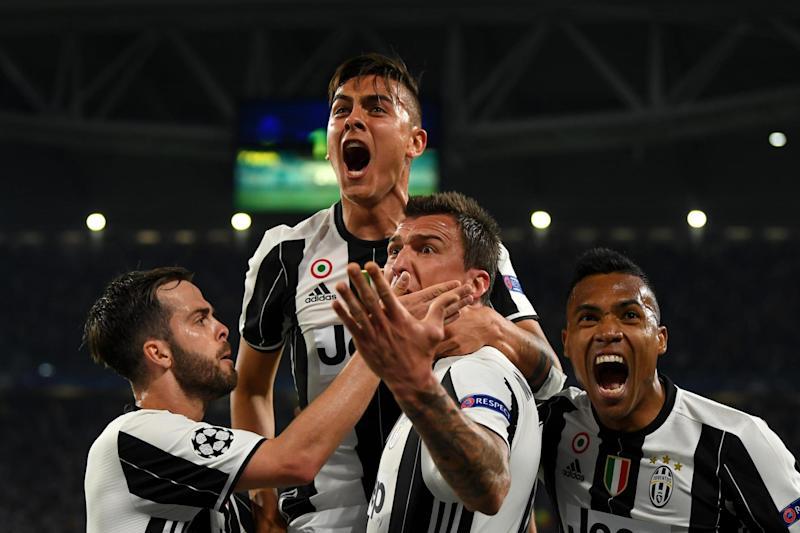 Dybala celebrates his second goal: Getty Images