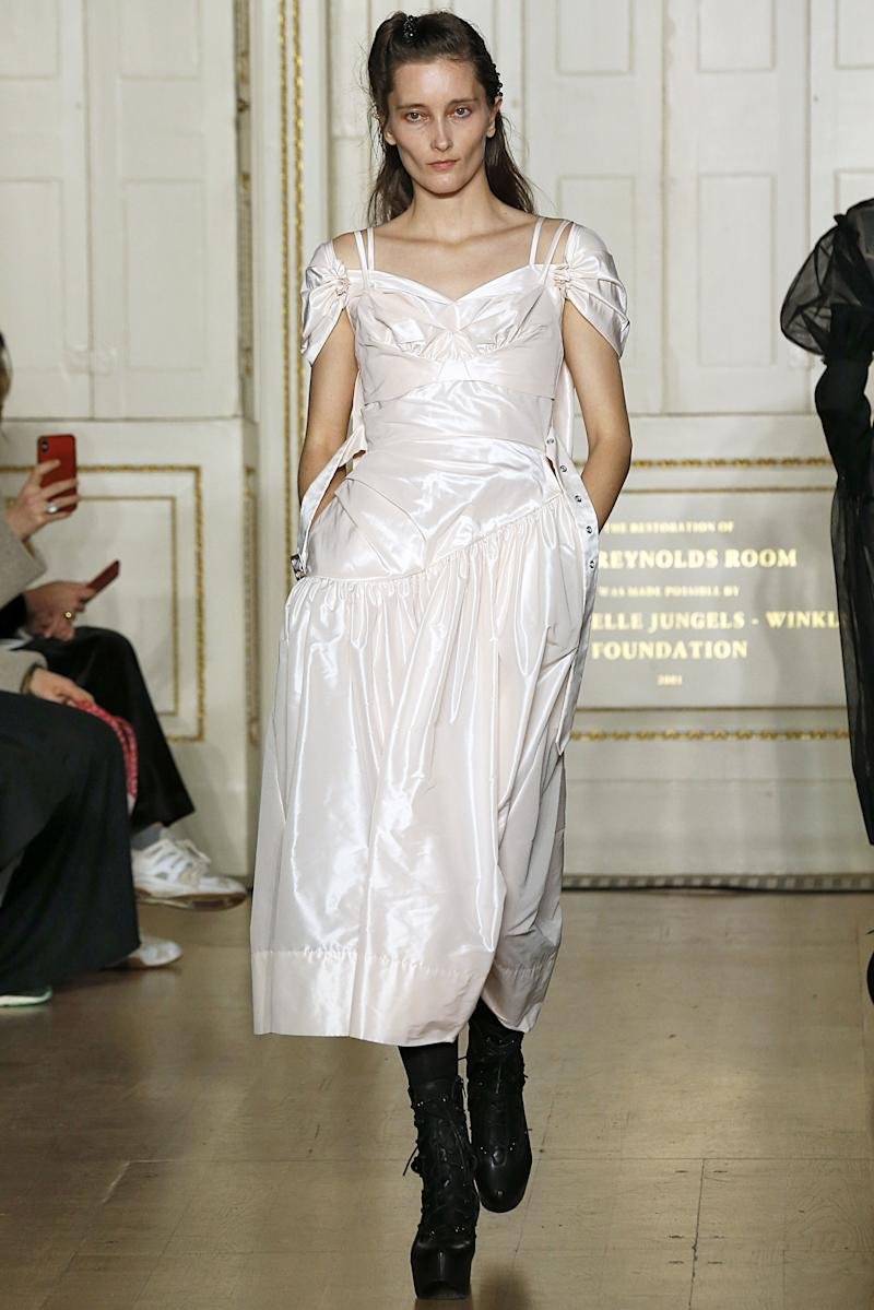 Iekeliene Stange also joined the gang at Simone Rocha, marking one of the Dutch model's recently rare appearances on the runway.