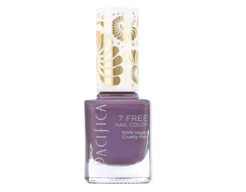 """<p>Luck is coming your way this month! All the more reason for you to try and double up on your good fortune with a vibrant, metallic purple. Purple is known to be the color of abundance and prosperity, after all. This color will also boost your confidence in reaching your dreams.</p> <p><strong>To shop: </strong>$20; <a href=""""https://www.amazon.com/7-Free-Nail-Polish-Abalone/dp/B00R28F8E6/ref=as_li_ss_tl?ie=UTF8&linkCode=ll1&tag=isbeuhaircolorsforlibraseasonlstardustsep20-20&linkId=11a955d4d5d9d6b0c1773bd0fa8c007d"""" rel=""""nofollow noopener"""" target=""""_blank"""" data-ylk=""""slk:amazon.com"""" class=""""link rapid-noclick-resp"""">amazon.com</a></p>"""