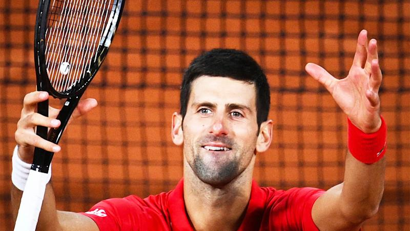 Novak Djokovic has visited a 'pyramid park' following his French Open loss to Rafael Nadal at the French Open. (Getty Images)