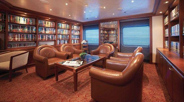 This room has books in it and likely to go unused by many athletes. Source: Silversea