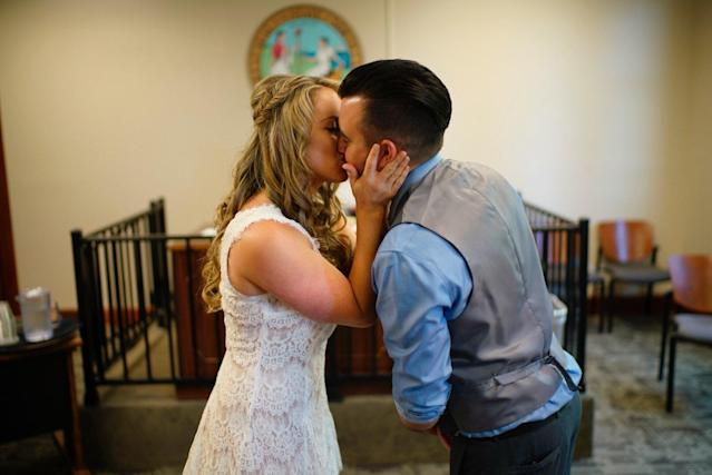 Love looks good on these two. (Blue Bend Photography)