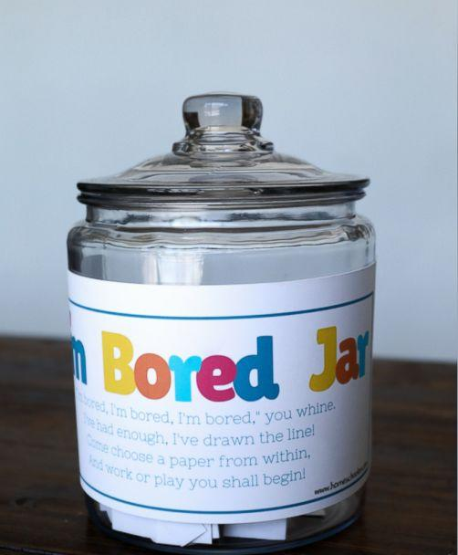 PHOTO: When the kids say 'I'm bored' this summer, have them pick an activity out of the 'bored jar.' (Homeschoolon.com)