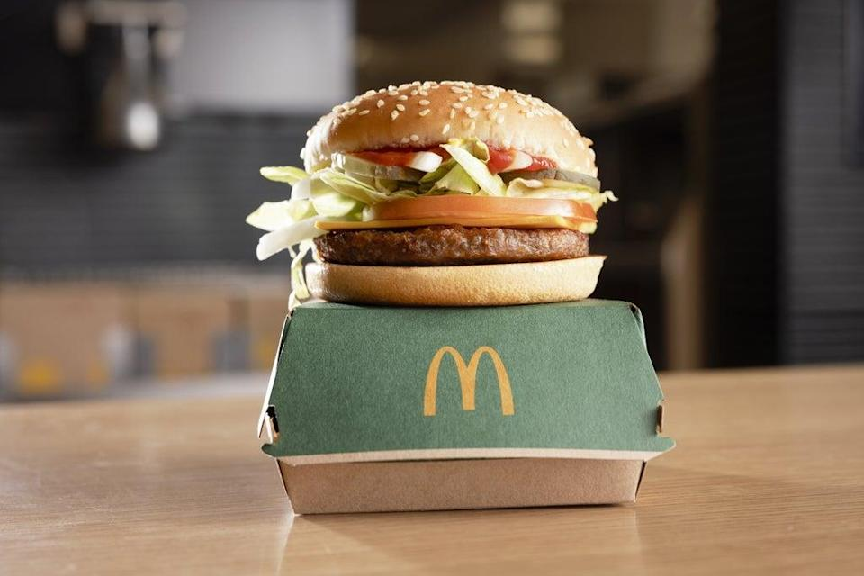 McDonald's launched its first plant-based burger earlier this year  (PA Media)