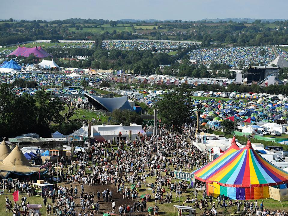 Worthy Farm filled with Glastonbury festival-goers in 2019 (Getty Images)