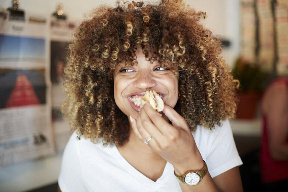 "<p>Aside from enjoying your meal, you should genuinely appreciate the food you're able to have. </p><p>""As cliché as this sounds, taking the time to appreciate the food you are about to eat or are eating can go a long way in terms of helping you build a healthy relationship with food,"" Dr. Seti says. ""We sometimes forget how fortunate we are, and taking just a minute during your mealtime to appreciate what you have can influence not only your meal, but your entire outlook for the day."" </p>"