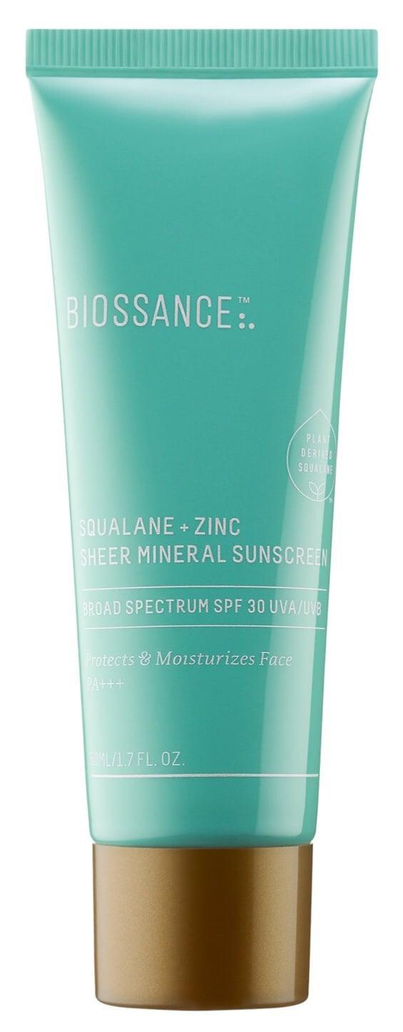 <p>The <span>Biossance Squalane + Zinc Sheer Mineral Sunscreen SPF 30 PA +++</span> ($30) is a 100 percent non-nano zinc sunscreen making it reef-safe. The entire brand is also certified by My Green Lab, ensuring the products are sustainability made to reduce waste, energy, and water.</p>