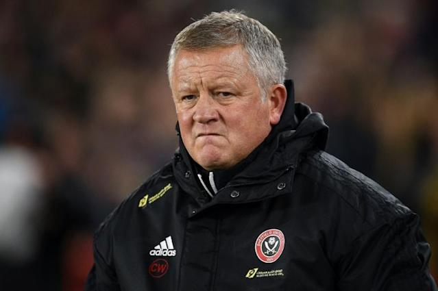 Sheffield United manager Chris Wilder would understand concerns from his players over returning to playing matches (AFP Photo/Oli SCARFF )
