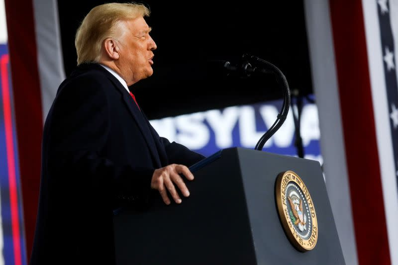 U.S. President Donald Trump holds a campaign event, in Allentown, Pennsylvania