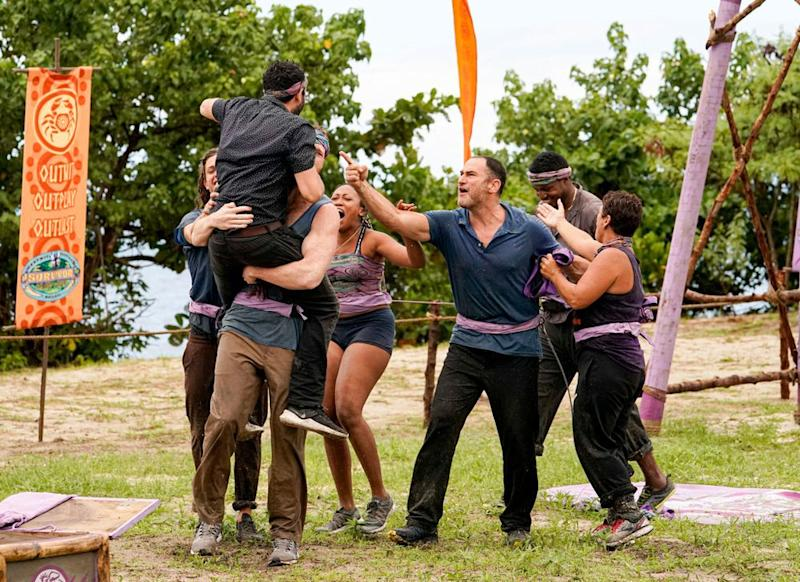 Dan Spilo with his fellow Survivor contestants | Robert Voets/CBS